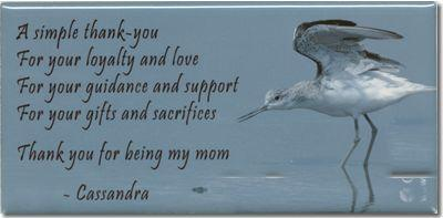 "Hardboard Photo Tile - Gloss Finish, 3"" x 6""  Personal Message & Graphics included"