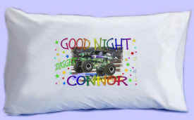 "DIGGER the MONSTER TRUCK says ""GOOD NIGHT"" Pillowcase"