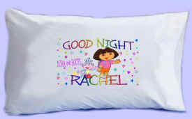 "DORA & BOOTS say ""GOOD NIGHT"" Pillowcase"