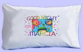 "Team Umizoomi says ""GOOD NIGHT"" Pillowcase"