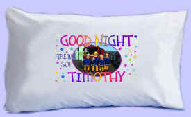 "FIREMAN SAM says ""GOOD NIGHT"" Pillowcase"
