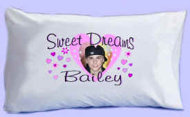 "Justin Bieber says ""SWEET DREAMS"" Pillowcase #1"
