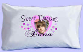 "Justin Bieber says ""SWEET DREAMS"" Pillowcase #2"