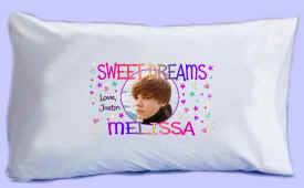 "Justin Bieber says ""SWEET DREAMS"" Pillowcase #4"