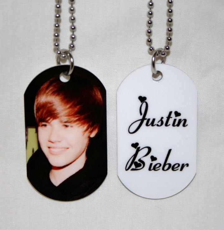 justin bieber dog tag necklace. Photo ID Dog Tag 30quot;Chain