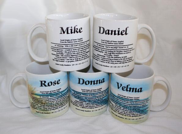build your own personalized name meaning mug